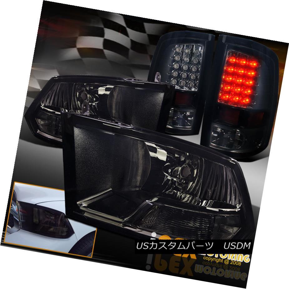 車用品 バイク用品 >> パーツ ライト ランプ テールライト 09-16 Dodge RAM 1500 2500 3500ブラックアウトヘッドライト+ダークスモークLEDテールライト + 授与 Smoke 3500 卸売り Headlights LED Tail Black-Out Light 09-16ダッジRAM Dark