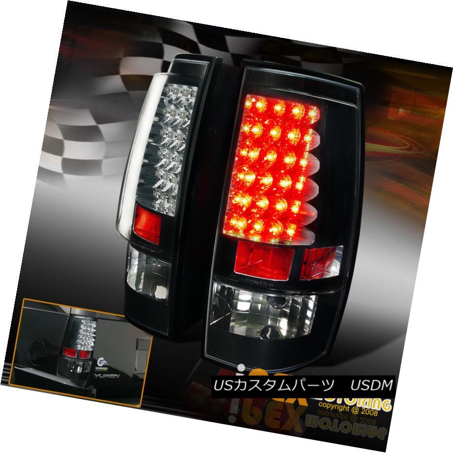 テールライト 2007-2014 Chevy Suburban Tahoe GMC Yukon 1500 2500 Black LED Tail Light Taillamp 2007-2014シボレー郊外タホGMCユーコン1500 2500ブラックLEDテールライトタイルランプ