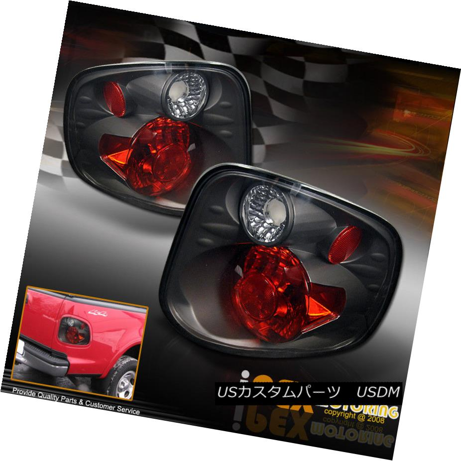 テールライト 01-03 Ford F150 FLARESIDE SUPERCREW Black Altezza Rear Brake Signal Tail Lights 01-03 Ford F150 FLARESIDE SUPERCREWブラックアルテッツァリアブレーキ信号テールライト