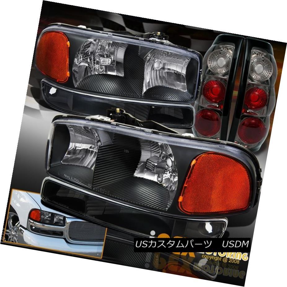 テールライト 1999-2003 GMC Sierra 1500 2500 Black Headlight + Signal Light & Smoke Tail Lamp 1999-2003 GMC Sierra 1500 2500ブラックヘッドライト+シグナルライト& スモークテールランプ