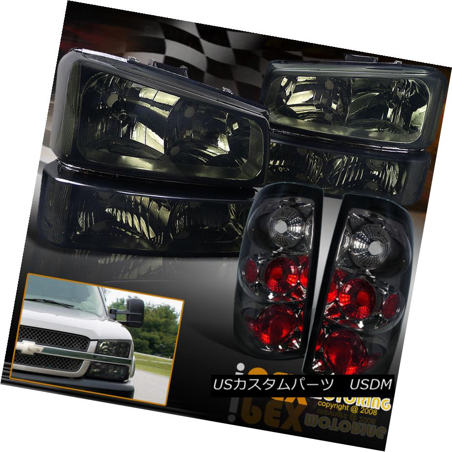 テールライト [SMOKE] 2003-2006 Chevy Silverado 1500 2500 Headlight + Tail Light +Signal Light [SMOKE] 2003-2006 Chevy Silverado 1500 2500ヘッドライト+テールライト+シグナルライト
