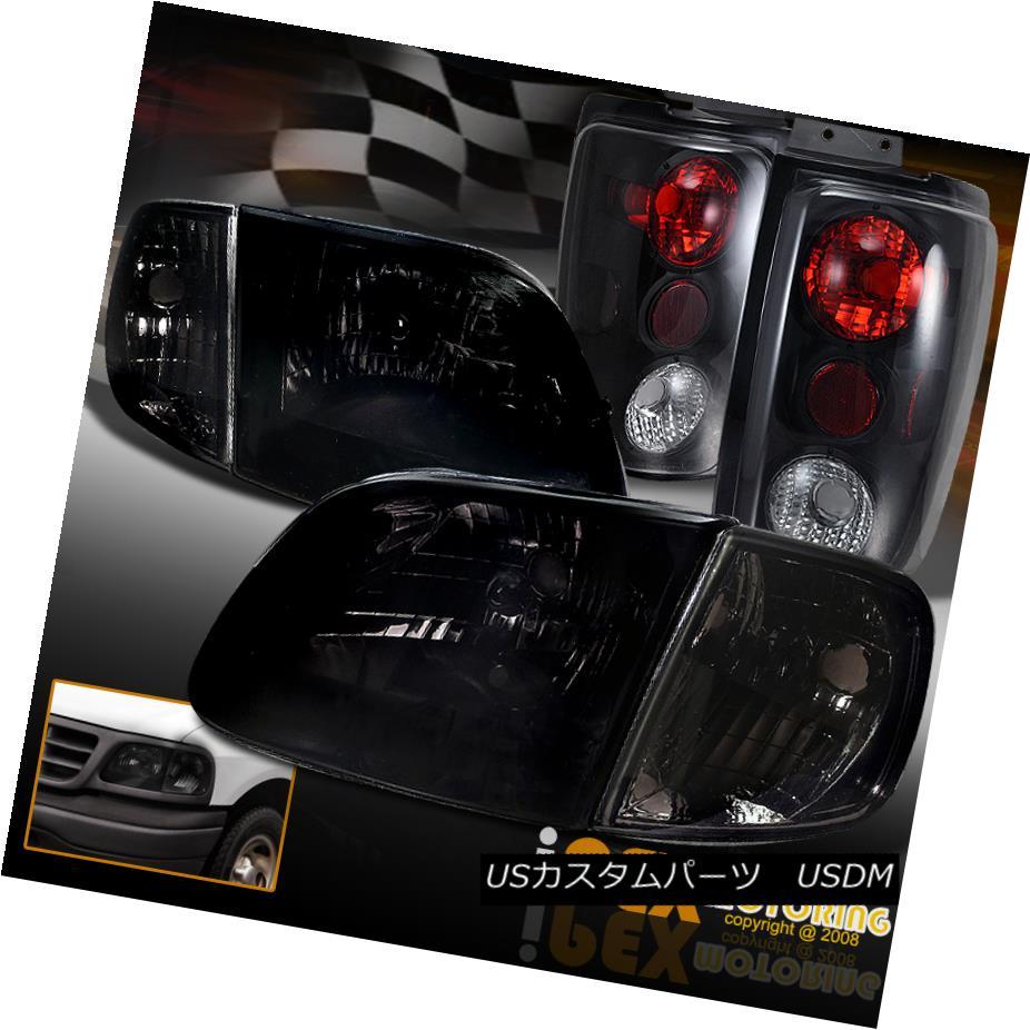 テールライト Tail 1997-2002 Ford Expedition Smoke Euro Headlights + Headlights テールライト Signal + Dark Smoke Tail Light 1997-2002フォード遠征煙ユーロヘッドライト+信号+ダークスモークテールライト, パーツのPALCA(パルカ):89c65910 --- officewill.xsrv.jp