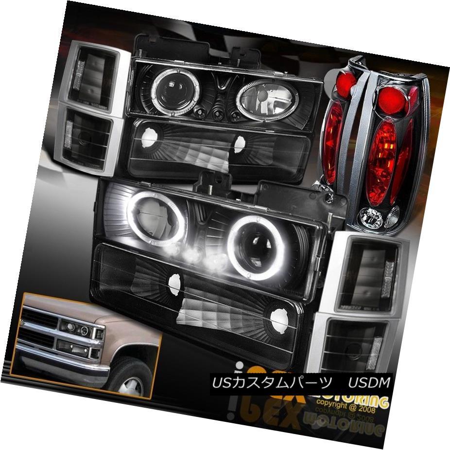 テールライト [10PC BLACK] 94-98 GMC Suburban Sierra Projector LED Headlight+Signal+Tail Light [10PC BLACK] 94-98 GMC郊外シエラプロジェクターLEDヘッドライト+サイン al +テールライト