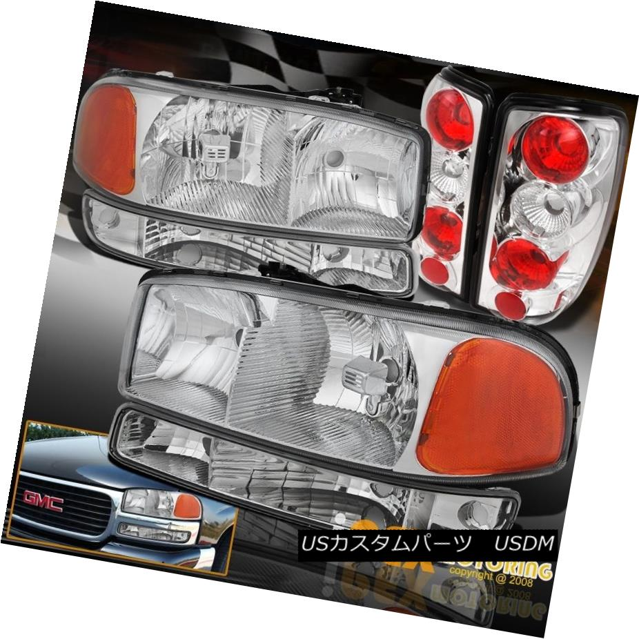 テールライト Chrome Head Set: 2000-2006 GMC Yukon GMC Head Light Rear + Signal Bumper W/ Rear Tail Lamps クロムセット:2000-2006 GMC Yukonヘッドライト+シグナルバンパーW/リアテールランプ, 沼南町:74b3c575 --- officewill.xsrv.jp