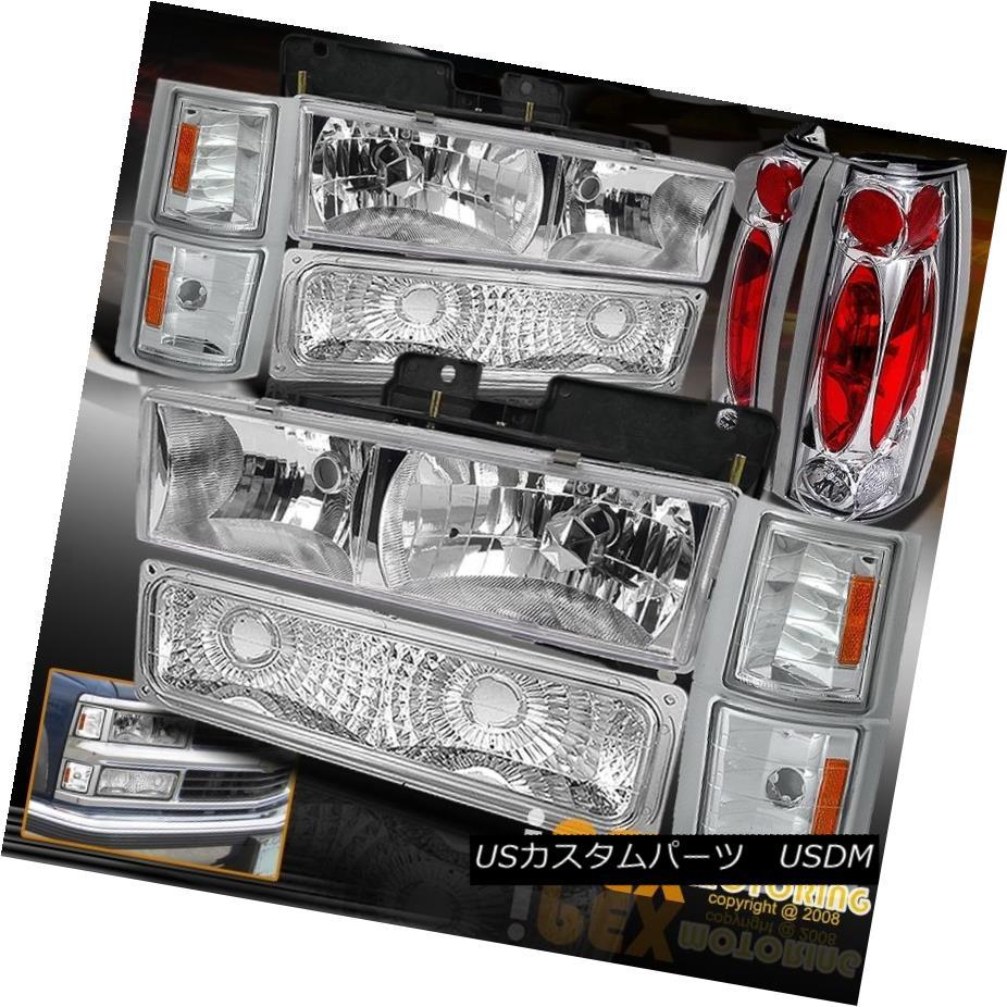 テールライト 1994-1998 Chevy Silverado Tahoe [10Pcs Chrome] Headlight + Signals + Tail Light 1994-1998 Chevy Silverado Tahoe [10Pcs Chrome]ヘッドライト+信号+テールライト