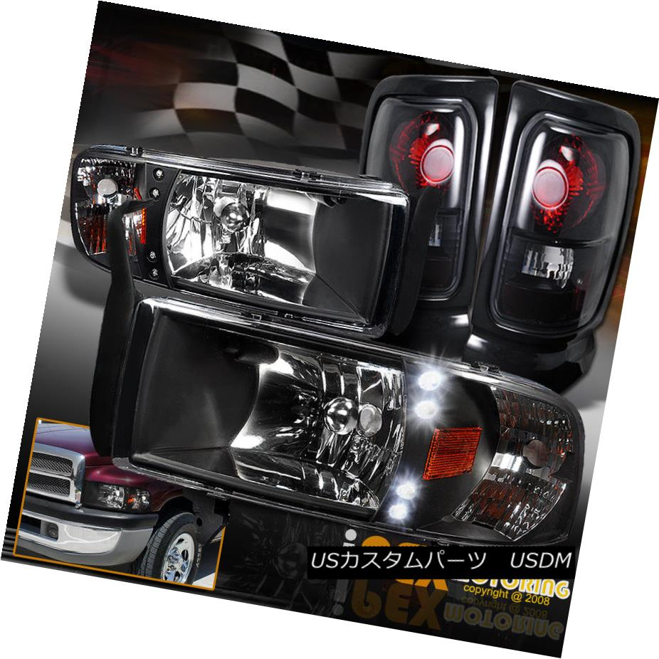 テールライト 1500 1994-2001 Dodge Lights + Ram 1500 2500 3500 LED Black Headlights + Dark Smoke Tail Lights 1994-2001 Dodge Ram 1500 2500 3500 LEDブラックヘッドライト+ダークスモークテールライト, ながさきけん:2940a8f1 --- officewill.xsrv.jp