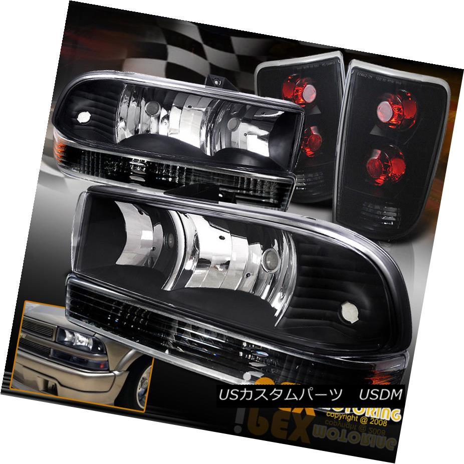 テールライト 98-04 Tail Chevy Blazer テールライト FULL FULL Black Headlight + Bumper Signal + Dark Smoke Tail Lights 98-04 Chevy Blazerフル・ブラック・ヘッドライト+バンパー・シグナル+ダーク・スモーク・テール・ライト, ブランドショップ ラッシュモール:54f8c895 --- officewill.xsrv.jp