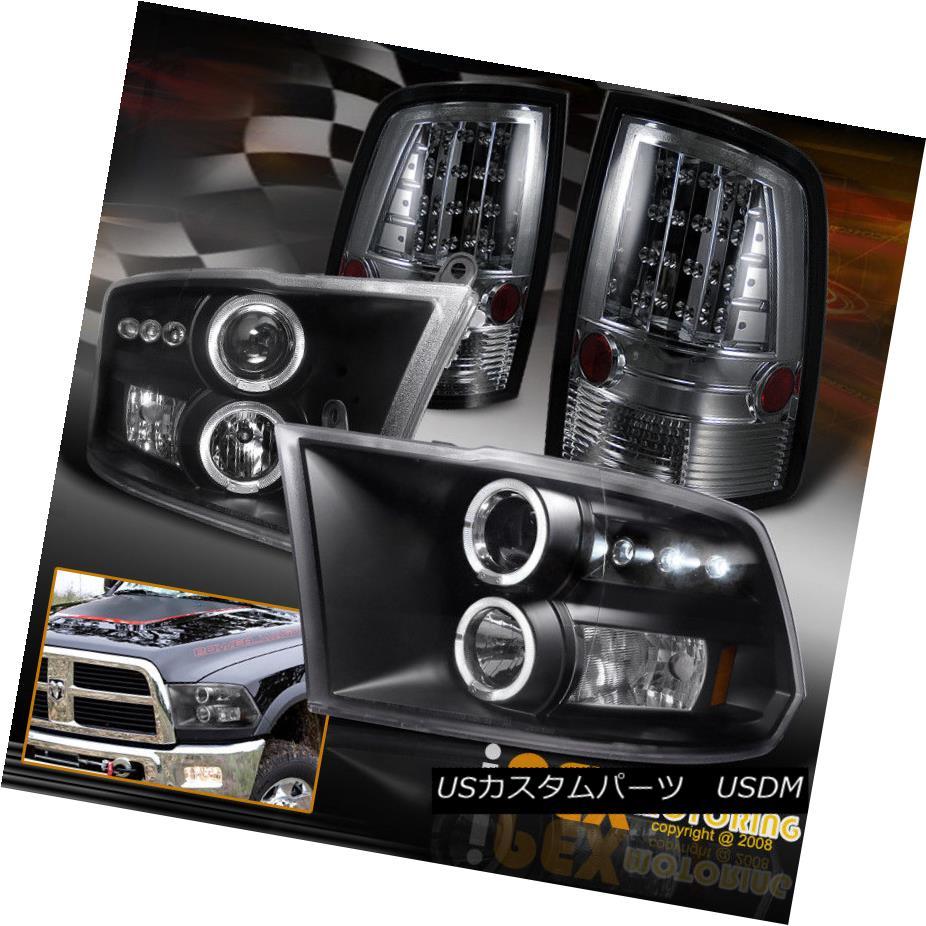 テールライト Dodge Ram 1500 2500 3500 Full LED Smoke Tail Lights + Halo Projector Headlights Dodge Ram 1500 2500 3500フルLEDスモークテールライト+ハロープロジェクターヘッドライト