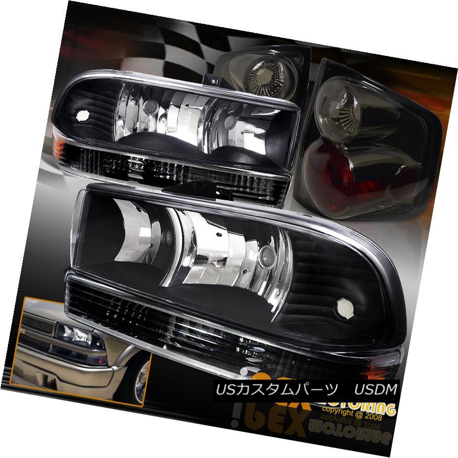 テールライト For + 1998-2004 Chevy S10 Headlights Black Euro Euro Headlights + Signal Light + Smoke Tail Lights 1998-2004シボレーS10ブラックユーロヘッドライト+シグナルライト+煙テールライト用, 下川町:3a71e937 --- officewill.xsrv.jp