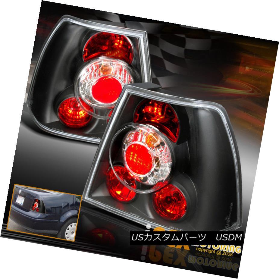 テールライト NEW For VOLKSWAGEN VW 1999-2005 Jetta MK4 MK-4 Black Euro Tail Lights フォルクスワーゲンVW 1999-2005用新型ジェッタMK4 MK-4ブラックユーロテールライト