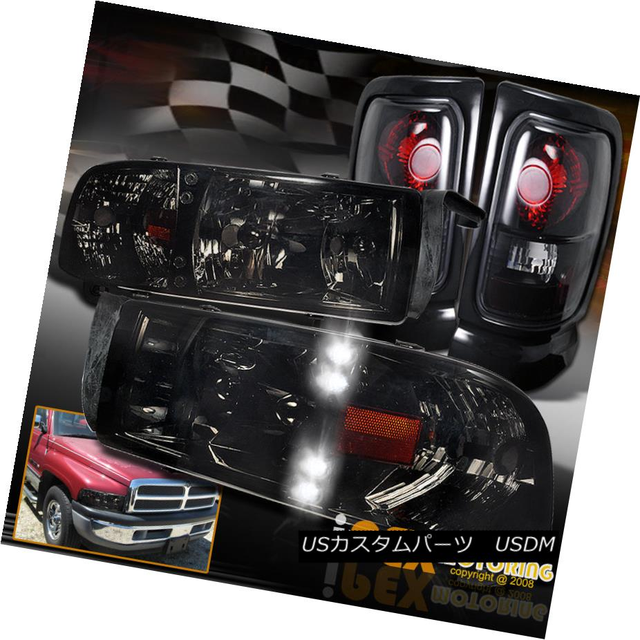 テールライト SHINY SMOKE 94-01 Dodge Ram 1500 2500 3500 LED Headlight + Dark Smoke Tail Light SHINY SMOKE 94-01 Dodge Ram 1500 2500 3500 LEDヘッドライト+ダークスモークテールライト