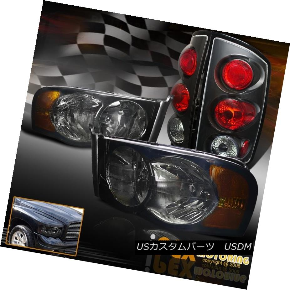 テールライト 4PC 1500 Combo 2002-2005 Dodge Ram Black + 1500 2500 3500 Smoke Headlight + Black Tail Light 4PCコンボ2002-2005ダッジラム1500 2500 3500煙ヘッドライト+ブラックテールライト, 後月郡:12086b82 --- officewill.xsrv.jp