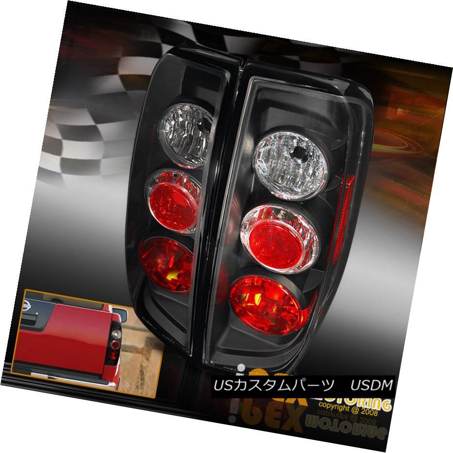 テールライト NEW For All 2005-2009 Nissan Frontier Left+Right Black Rear Tail Lights すべての2005-2009年の新型日産フロンティア左+右黒リアテールライト