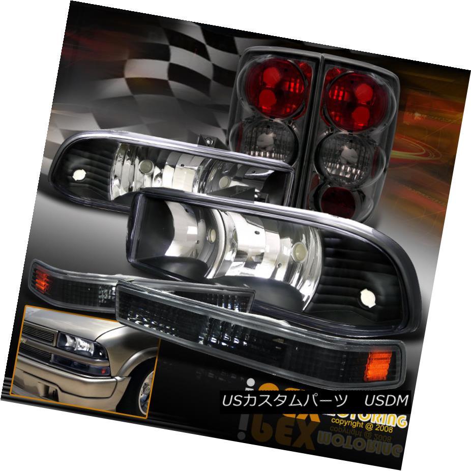テールライト Chevy Blazer [COMPLETE 6PCS] Black Headlights + Smoke Tail Light + Signal Light シボレーブレイザー[完成品6PCS]ブラックヘッドライト+スモークテールライト+シグナルライト