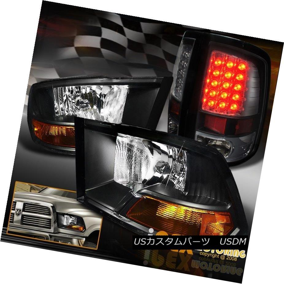 テールライト [ BLACK ] 2009-2016 Dodge RAM 1500 2500 3500 Headlights + BRIGHT LED Tail Lights [BLACK] 2009-2016 Dodge RAM 1500 2500 3500ヘッドライト+ BRIGHT LEDテールライト