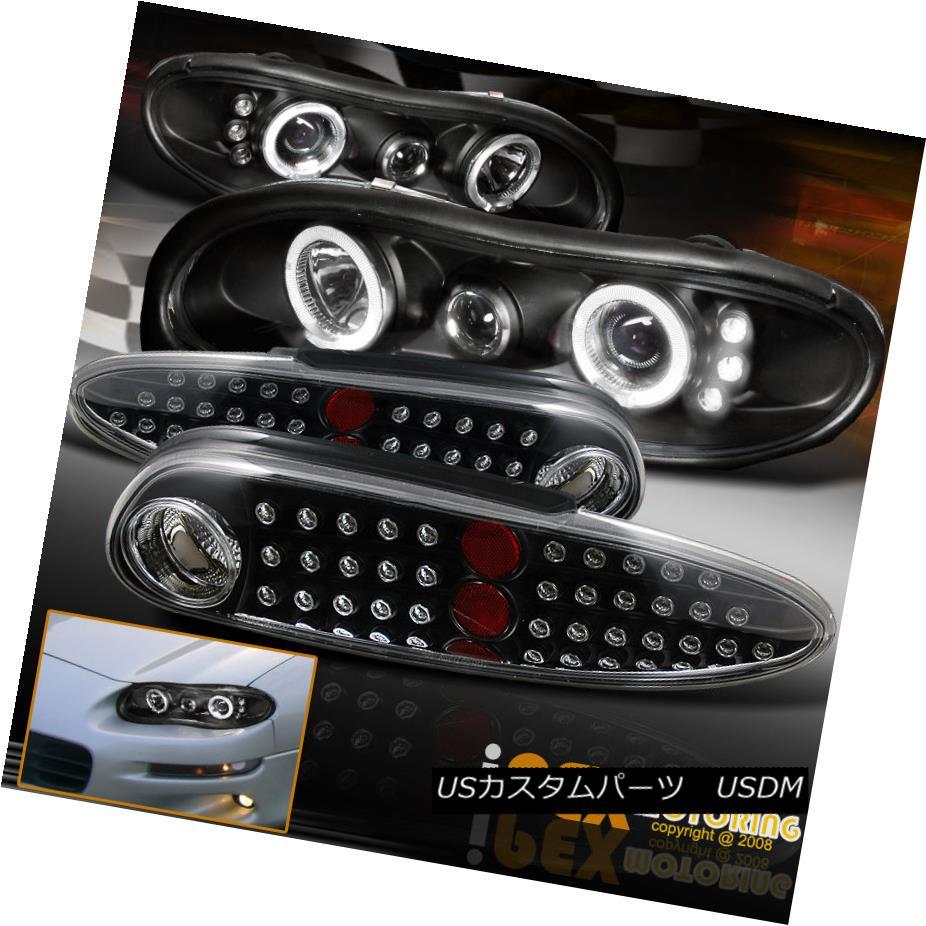 1998-2002 Chevy Camaro Z28 SS Base Black Halo Headlights 1 Pair 99 00 01