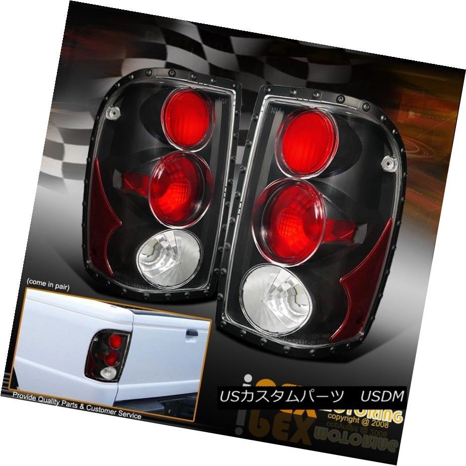 テールライト 1998-2001 Ford Ranger *LIMITED RIVTED STYLE* Black Euro Tail Lights Brake Lamp 1998-2001フォードレンジャー*リミテッドリビングスタイル*ブラックユーロテールライトブレーキランプ