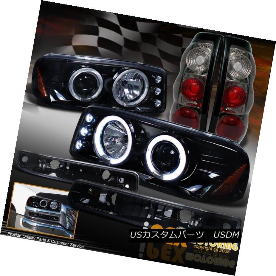 テールライト 1999-2003 GMC Sierra Gloss Black Headlights + Signal Lamps + Smoke Tail Light 1999-2003 GMC Sierra Glossブラックヘッドライト+シグナルランプ+スモークテールライト