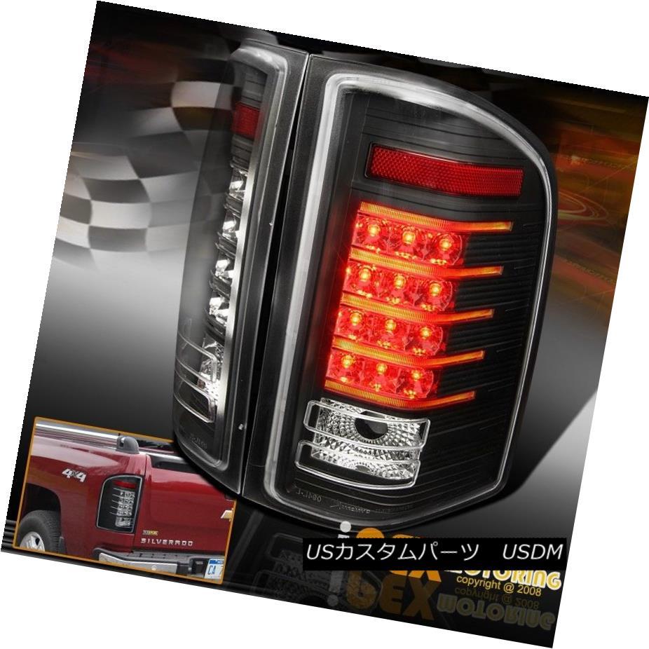 テールライト Silverado 2007-2014 Chevy Silverado 1500 2500HD 1500 3500**GLOW* LED Strip Tail Lights Black 2007年?2014年Chevy Silverado 1500 2500HD 3500* GLOW* LEDストリップテールライトブラック, シントツカワチョウ:d9a79c8e --- officewill.xsrv.jp