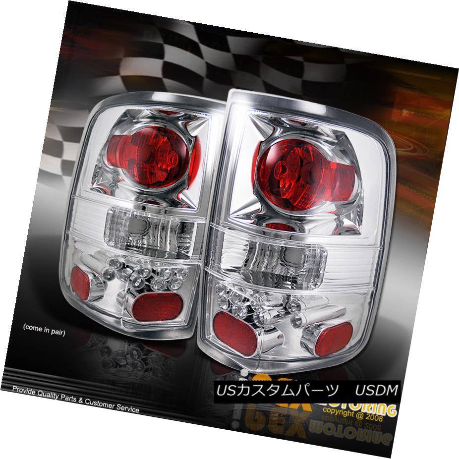 テールライト **TRIPLE CHROME** 2004-2008 Ford F150 Plug N Play Tail Light Brake Lamps **トリプルクロム** 2004-2008フォードF150プラグNテールライトブレーキランプ