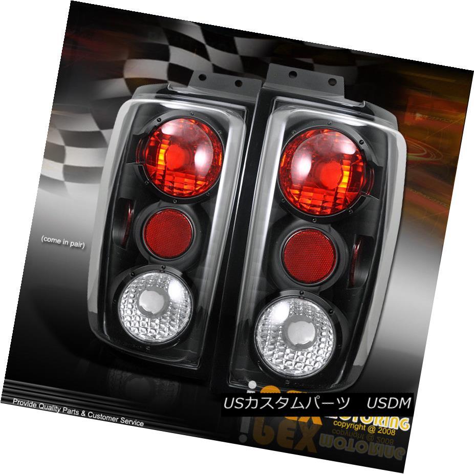 テールライト 1997 - 2002 Ford Expedition SUV Black Signal Rear Brake Tail Lights Lamps 1997 - 2002フォード遠征SUVブラックシグナルリアブレーキテールライトランプ