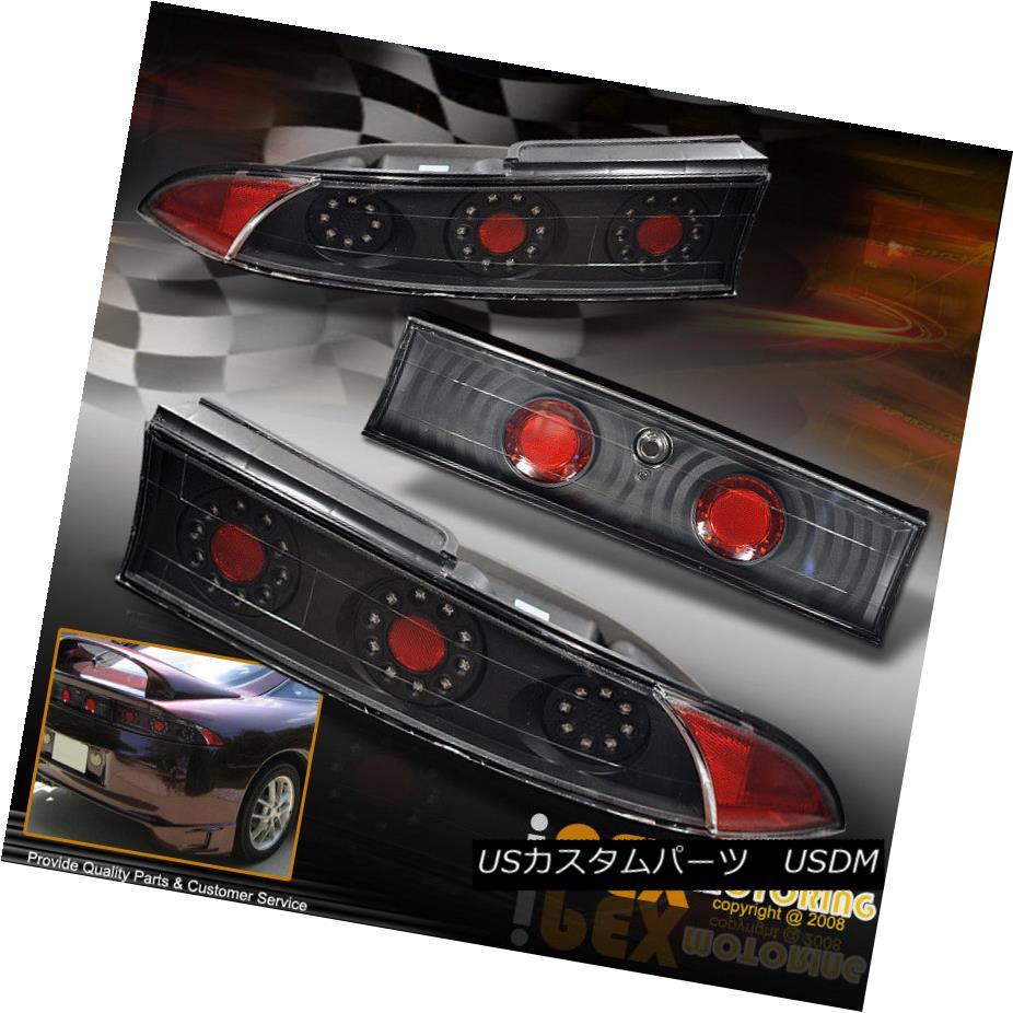 テールライト (FREE SHIP) 1995-1999 Mitsubishi Eclipse LED Black Tail Lights+Trunk Panel 3PC (フリーシップ)1995-1999三菱Eclipse LEDブラックテールライト+トランクパネル3PC