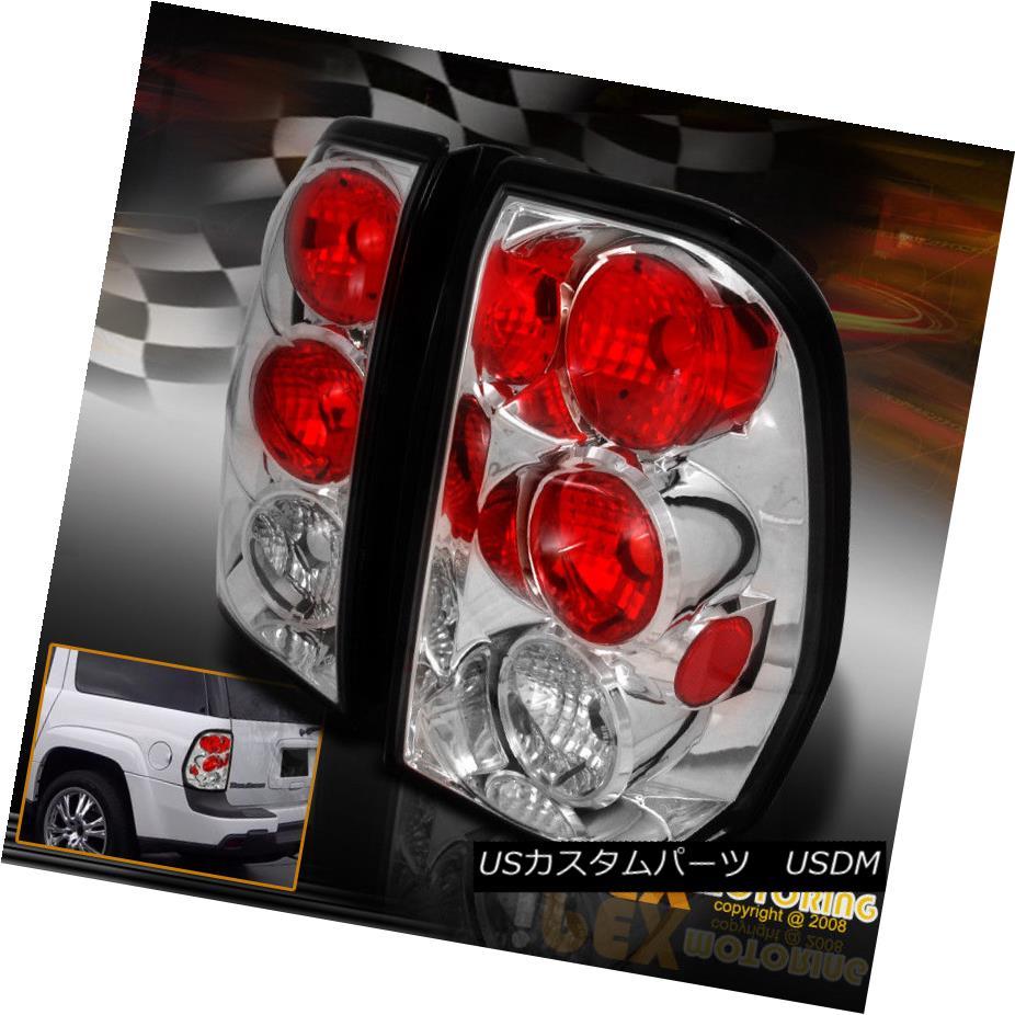 テールライト Left + Right Pair 2002-2009 Chevy Trailblazer Chrome Tail Light Brake Lamp 左+右ペア2002-2009シボレートレイルブレイザークロムテールライトブレーキランプ