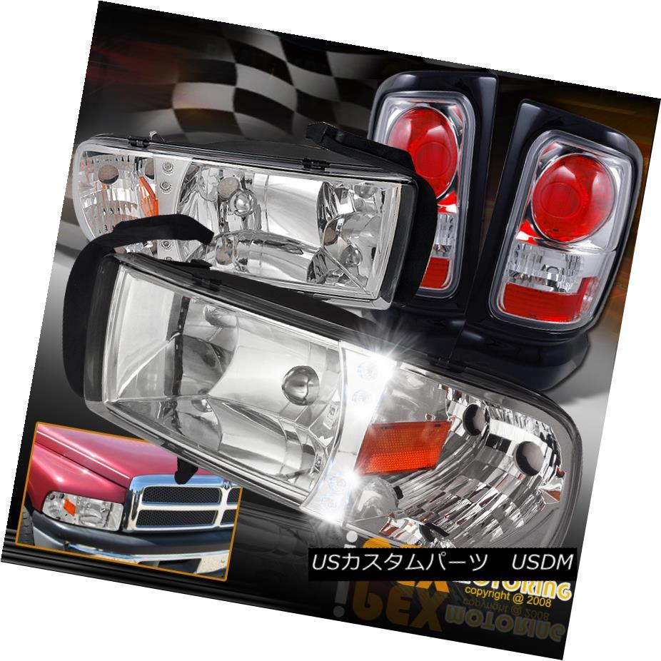 テールライト 1994-2001 Dodge Ram 1500/2500/3500 Chrome LED Headlights W/Signals + Tail Light 1994-2001 Dodge Ram 1500/2500/3500クロームLEDヘッドライトW /シグナル+テールライト