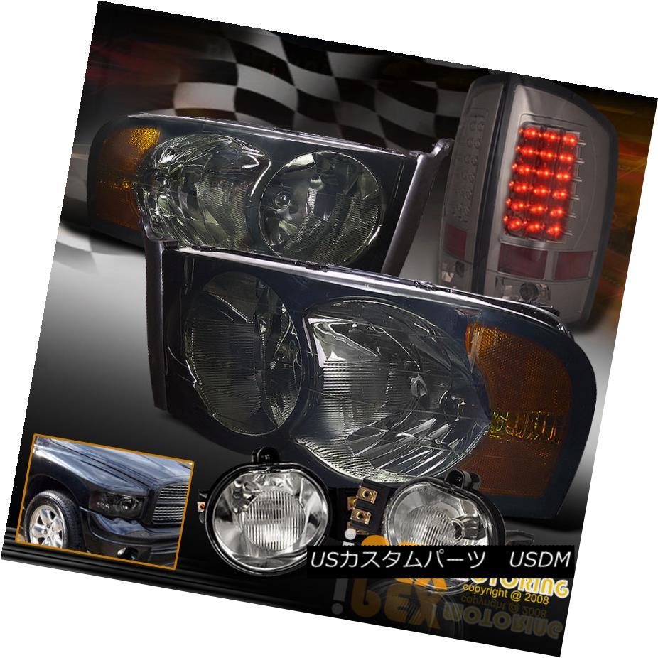 テールライト HOT Dodge Ram 1500 2500 3500 Smoke Headlight + LED Smoke Tail Light+ Fog Light HOT Dodge Ram 1500 2500 3500スモークヘッドライト+ LEDスモークテールライト+フォグライト