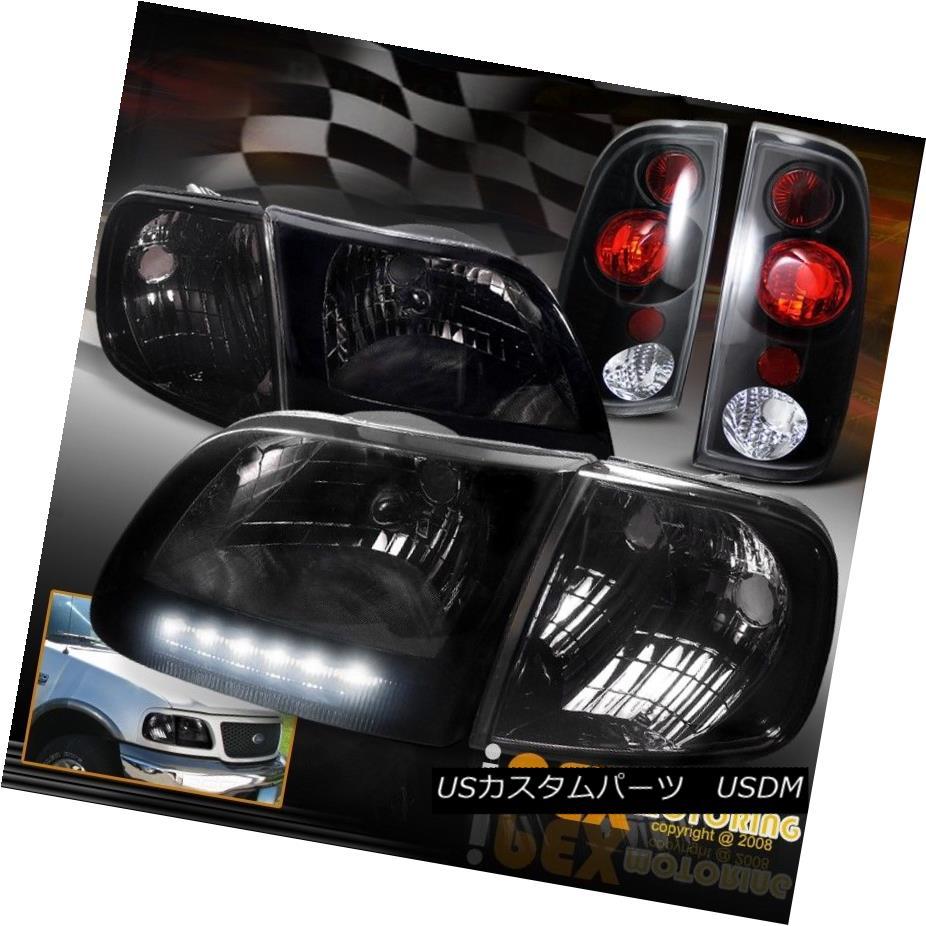 テールライト Shiny 1997-2003 Ford F150 Shiny Smoke LED Headlight Signal+ + Smoke Corner Signal+ Black Tail Light 1997-2003フォードF150シャイニー・スモークLEDヘッドライト+コーナー信号+ブラックテールライト, カンナリチョウ:3684f27a --- officewill.xsrv.jp
