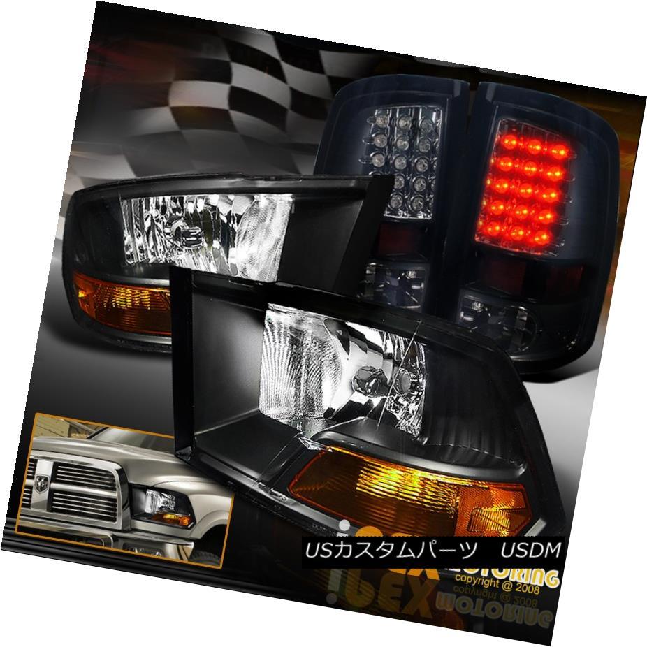 テールライト 2009-2016 Dodge RAM 1500 2500 3500 Black Headlights & Dark Smoke LED Tail Light 2009-2016 Dodge RAM 1500 2500 3500ブラックヘッドライト& 暗い煙LEDテールライト