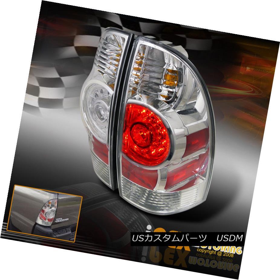 テールライト NEW For 2005-2012 Toyota Tacoma Ultra Bright LED Tail Lights Brake Lamps Chrome トヨタタコマウルトラブライトLEDテールライトブレーキランプクローム