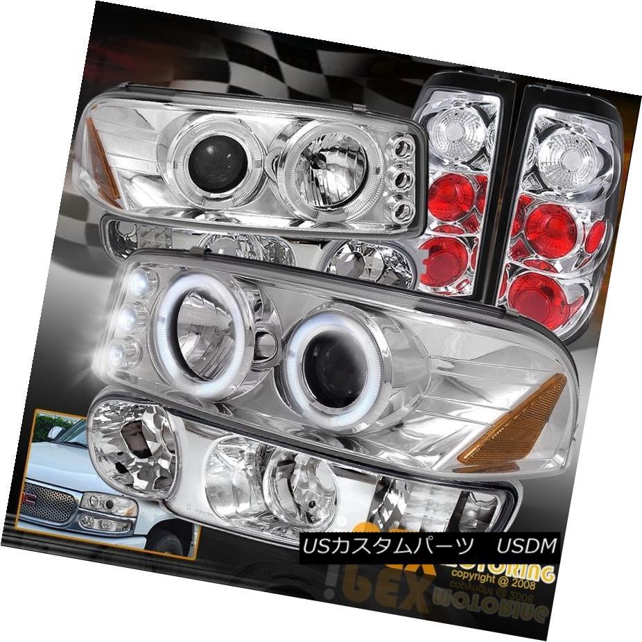 テールライト 2004-2006 GMC Sierra Denali Projector Chrome LED Headlight W/ Signal +Tail Light 2004-2006 GMC Sierra DenaliプロジェクタークロームLEDヘッドライトW /信号+テールライト