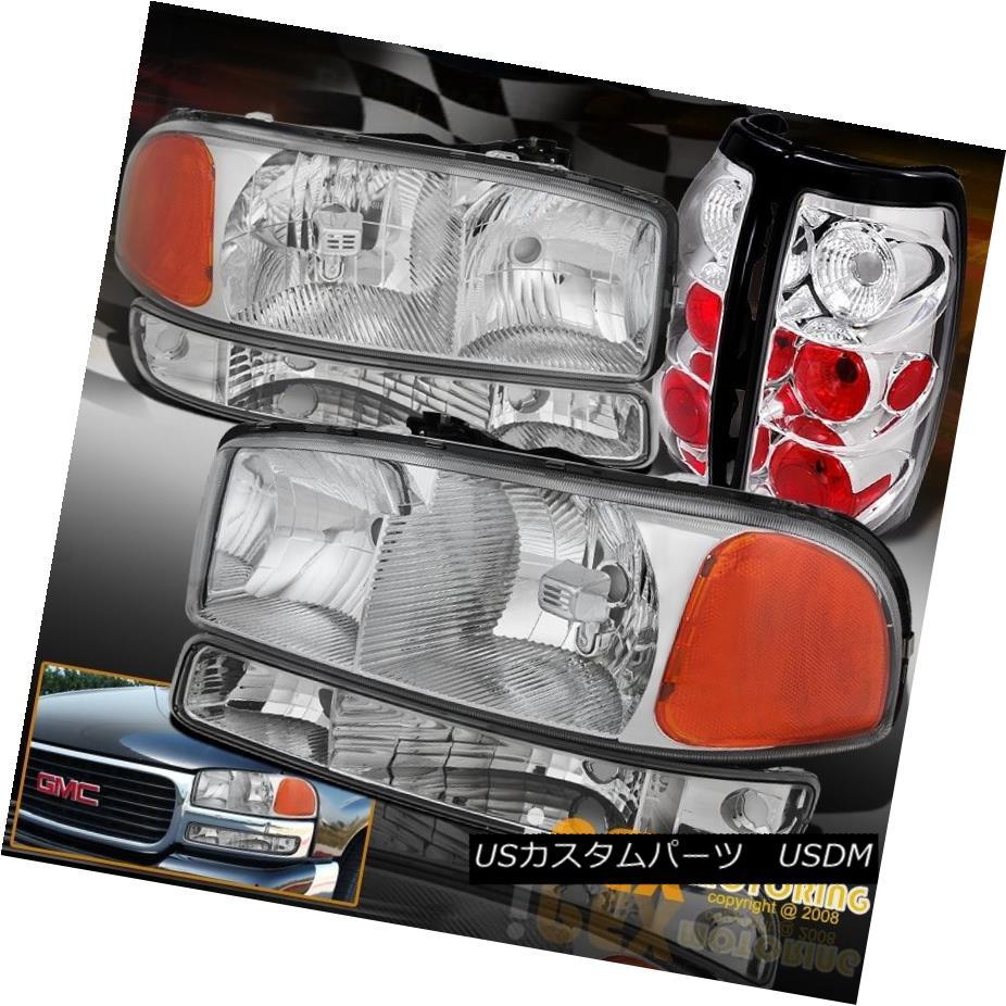 テールライト 2004 2005 2006 GMC Sierra 1500 2500 Chrome Headlight + Signal Light & Tail Lamp 2004 2005 2006 GMC Sierra 1500 2500クロームヘッドライト+信号ライト& テールランプ