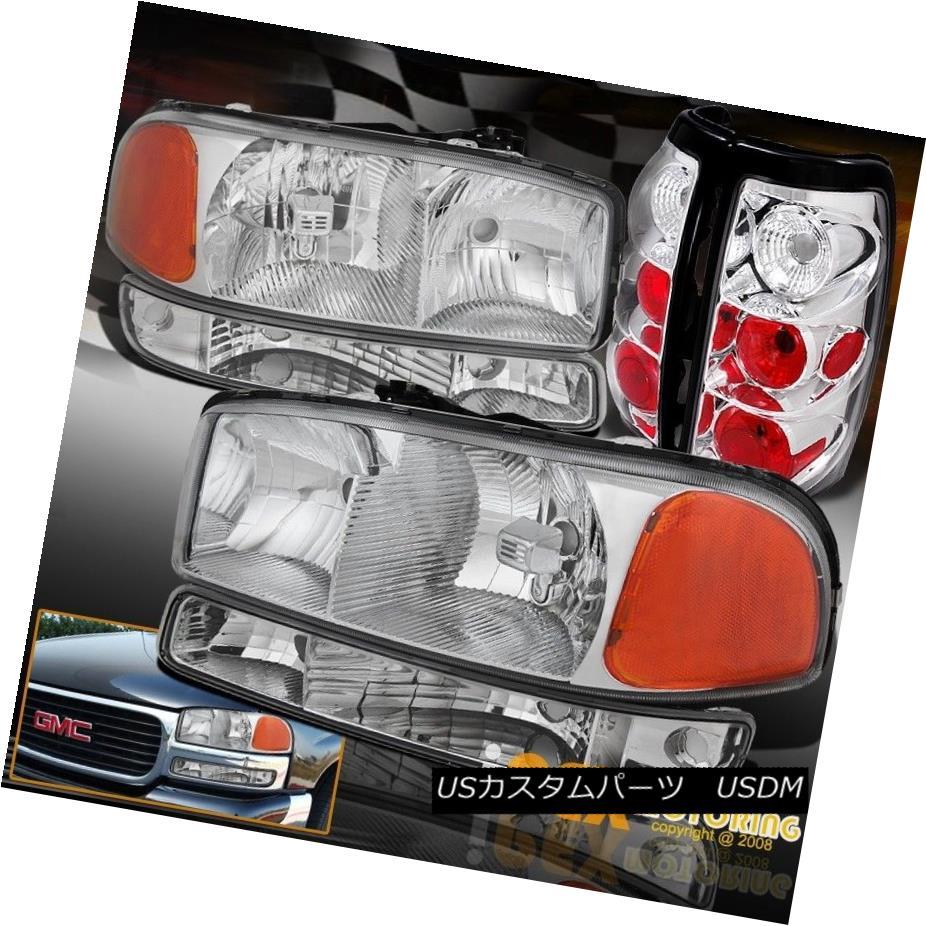 テールライト 1999-2003 GMC Sierra 1500 2500 Chrome Headlights + Bumper Signals + Tail Light 1999-2003 GMC Sierra 1500 2500クロームヘッドライト+バンパーシグナル+テールライト