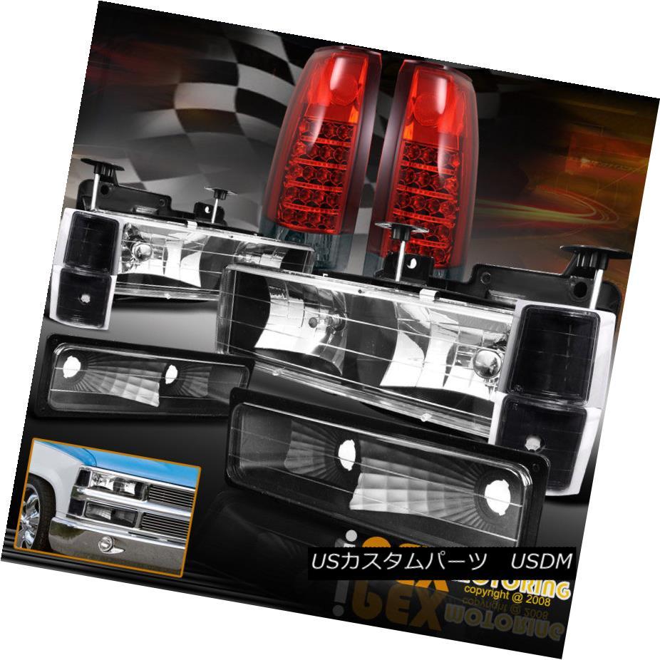 テールライト Black Chevy C1500 C2500 K1500 K2500 Silverado Tahoe Head Light+Signal + LED Tail ブラックシェビーC1500 C2500 K1500 K2500シルバラードタホヘッドライト+信号+ LEDテール