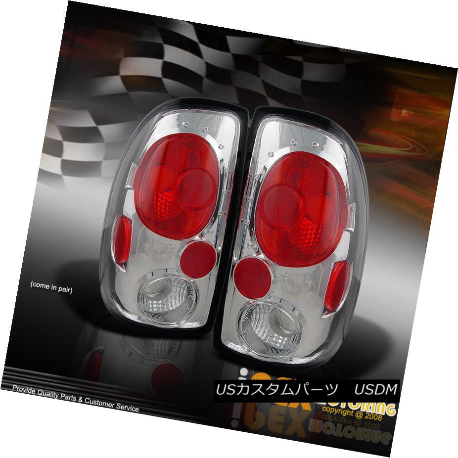 テールライト Value Deal : 1997-2004 Dodge Dakota Euro Style Chrome Tail Light Brake Lamp Set 値引き:1997-2004ダッジダコタユーロスタイルクロムテールライトブレーキランプセット