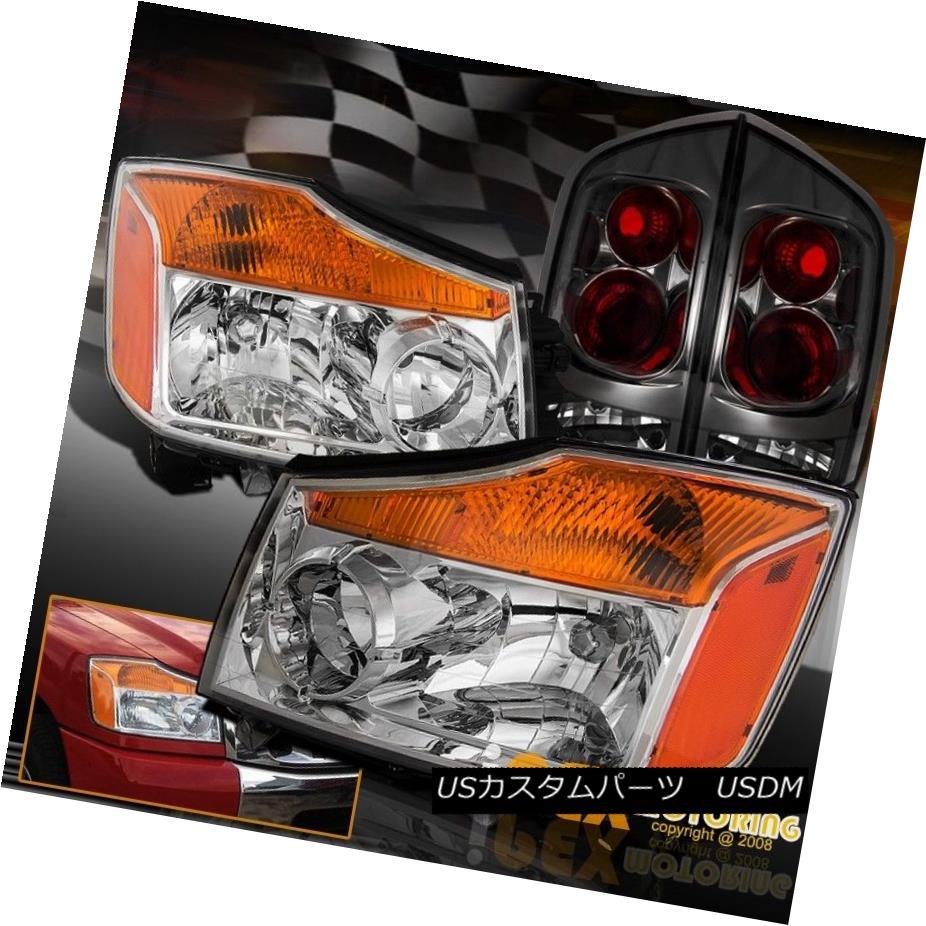 テールライト Perfect Fitment For 2005-2007 Nissan Armada Chrome HeadLights + Smoke Tail Light 日産アルマダクロームヘッドライト+スモークテールライト