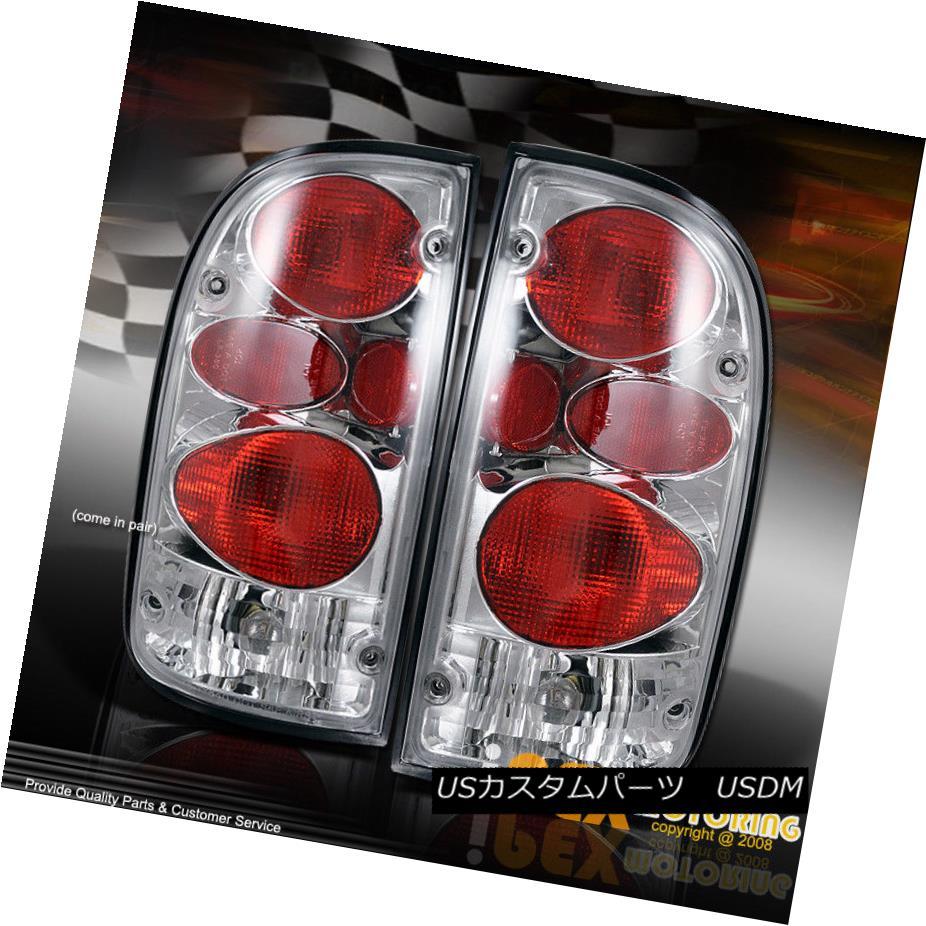 テールライト 1995-2000 Toyota Tacoma Chrome Euro Altezza Style Tail Light Lamps Chrome Pair 1995-2000トヨタタコマクロムユーロAltezzaスタイルテールライトランプクロームペア