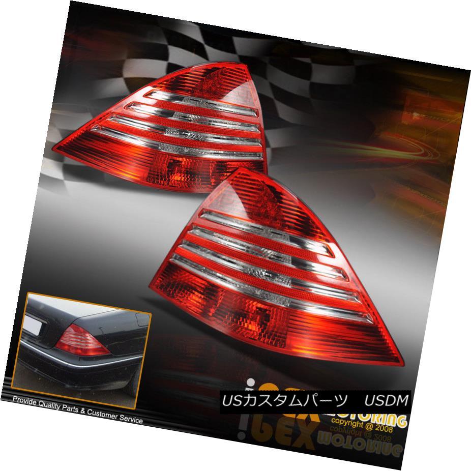 テールライト New 2000-2005 Mercedes-Benz S-Class W220 S430/S500/S600 LED Euro Tail Lights Red 新しい2000-2005メルセデスベンツSクラスW220 S430 / S500 / S600 LEDユーロテールライトレッド