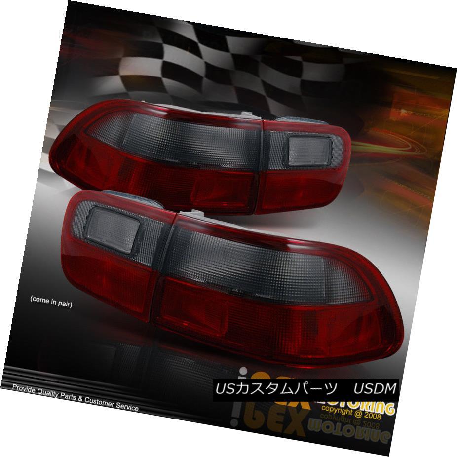 テールライト 1992-1995 Honda Civic COUPE/SEDAN JDM Red+Smoke Lens Tail Lights 4-Pieces Kit 1992-1995 Honda Civic COUPE / SEDAN JDMレッド+スモークレンズテールライト4点キット