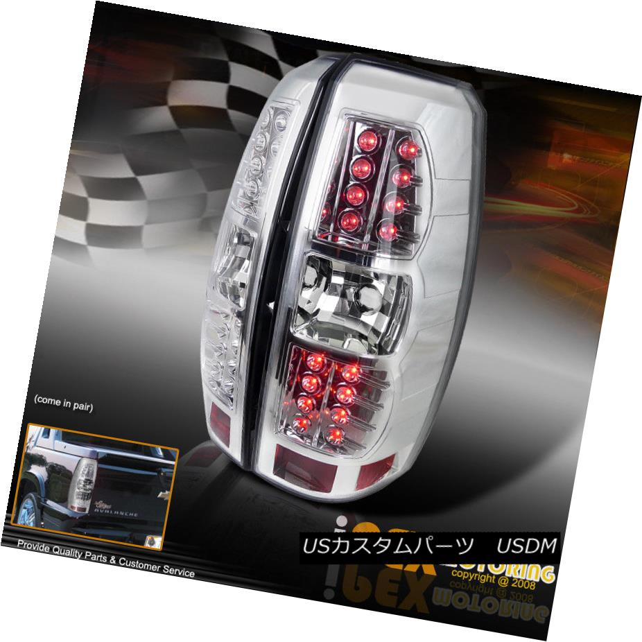 テールライト 2007 2008 2009 2010 12 2013 Chevy Avalanche LED Tail Light Brake Lamp Chrome 2007年2008 2009 2010 12 2013 Chevy Avalanche LEDテールライトブレーキランプクローム