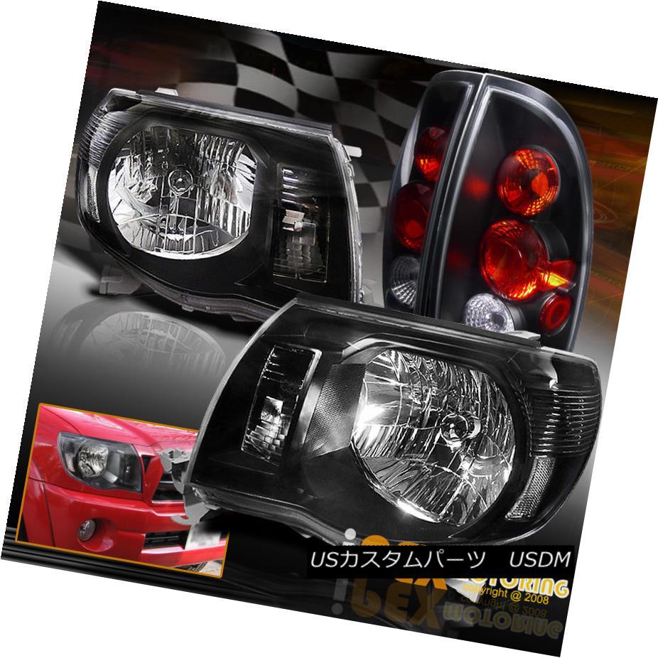テールライト Combo 2005-2008 Toyota Tacoma Black Euro Headlights + Black Tail Light Free Ship コンボ2005-2008トヨタタコマブラックユーロヘッドライト+ブラックテールライトフリーシップ