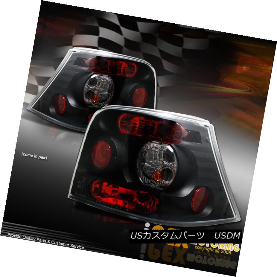 テールライト VOLKSWAGEN Golf MK-IV MK4 Black Plug-N-Play Tail Light Lamps With Bulbs + Wire フォルクスワーゲンゴルフMK-IV MK4ブラックプラグ-Nプレーテールライトランプ(電球+ワイヤー付)