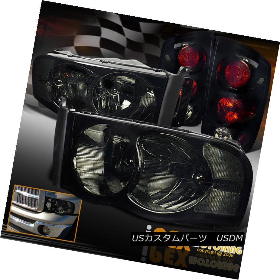テールライト NEW 2002-2005 Dodge Ram 1500/2500/3500 Smoke Headlight + Pearl Black Tail Lights NEW 2002-2005 Dodge Ram 1500/2500/3500スモークヘッドライト+パールブラックテールライト