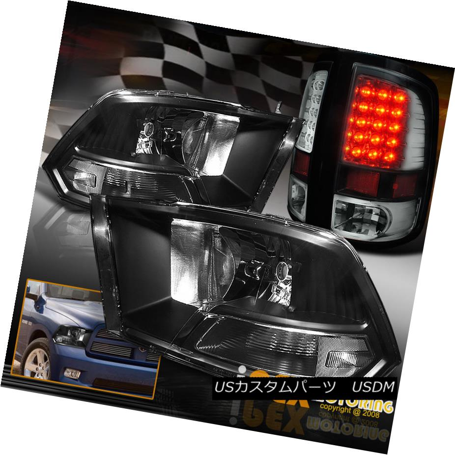 車用品 バイク用品 >> パーツ ライト ランプ テールライト For 2009-2016 Dodge Ram 年末年始大決算 1500 3500 Black 2500 LED Lights 3500ブラックヘッドライト+ウルトラLEDテールライト 安心と信頼 Ultra Headlights 2009-2016ダッジラム1500 + Tail