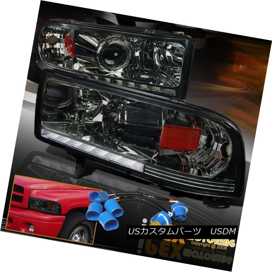 テールライト SHINY SMOKE 1997-2001 Dodge Ram 1500 2500 SPORT LED DRL Bar Projector Headlights SHINY SMOKE 1997-2001 Dodge Ram 1500 2500 SPORT LED DRLバープロジェクターヘッドライト