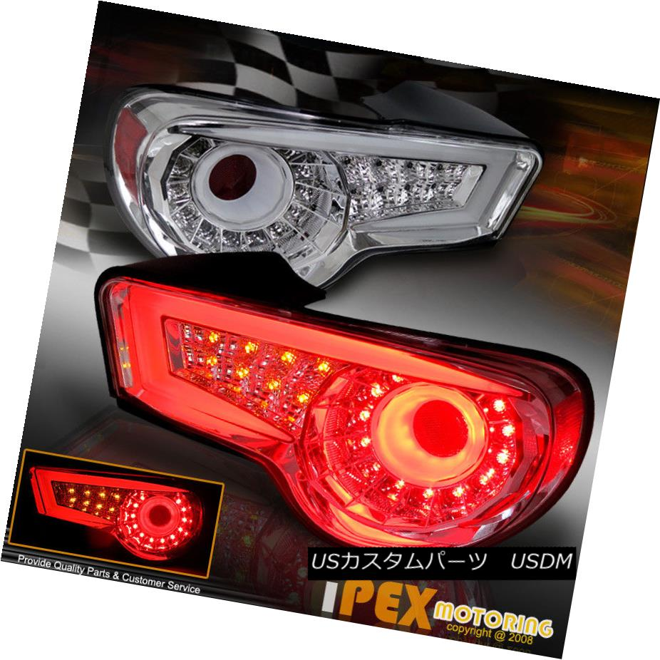 テールライト For 2012 - 2014 Scion FRS FR-S/Subaru BRZ LED Signals/Brake Tail Light Chrome Scion FRS FR-S / Subaru BRZ LEDシグナル/ブレーキテールライトクローム