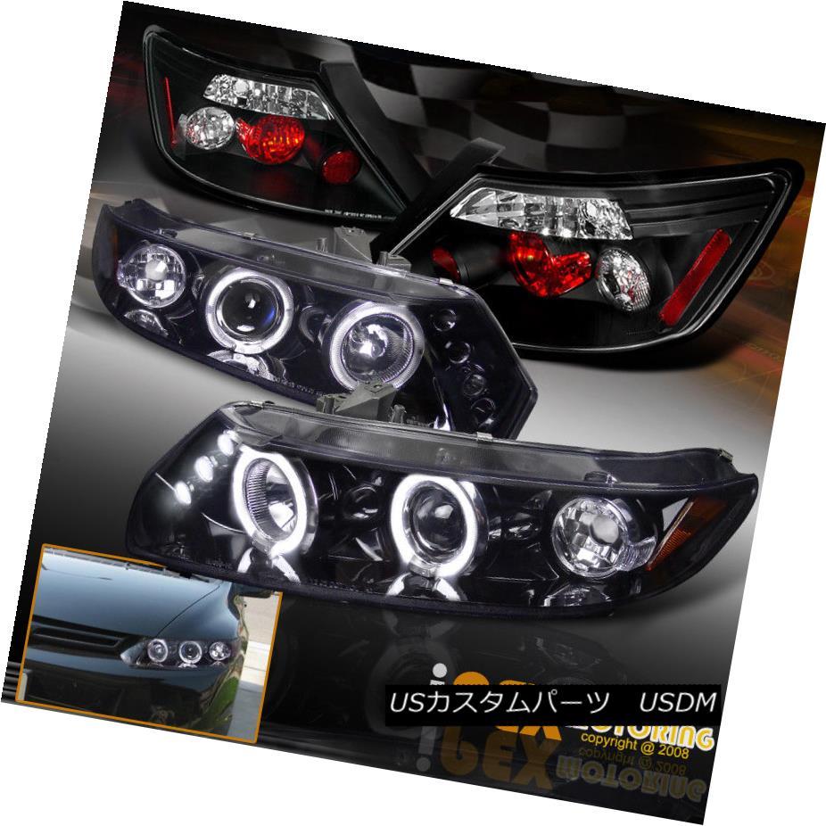 テールライト 2006-2011 Honda Civic 2Dr Halo Projector [Smoked-Black] Headlights + Tail Lights 2006-2011 Honda Civic 2Dr Haloプロジェクター[Smoked-Black]ヘッドライト+テールライト