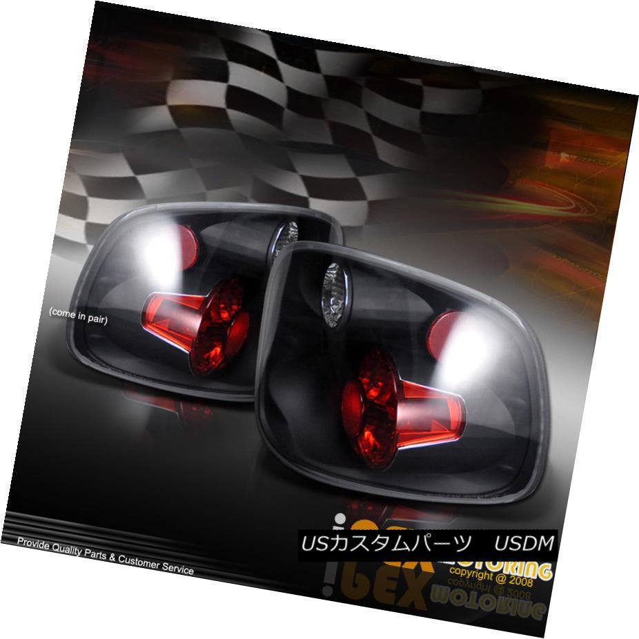 テールライト For 1997-2000 Ford F150 FlareSide SuperCrew Black Tail Lights LH+RH Assembly 1997-2000 Ford F150 FlareSide SuperCrewブラックテールライトLH + RHアセンブリ
